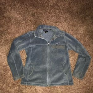 Grey Patagonia Zip Up Large